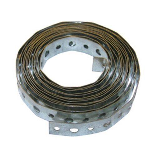 LASCO 13-1601 28-Gauge Galvanized Metal Perforated Plumbers Tape, 3/4-Inch X 10-Feet