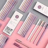 Black Ink Gel Pens Pack of 6 Pcs Quick Drying 0.5mm Fine Point Gel Ink Pen Premium Fine Writing Pens, Soft Comfort Grip for Kids Girls Children Students Teens (6Pcs)