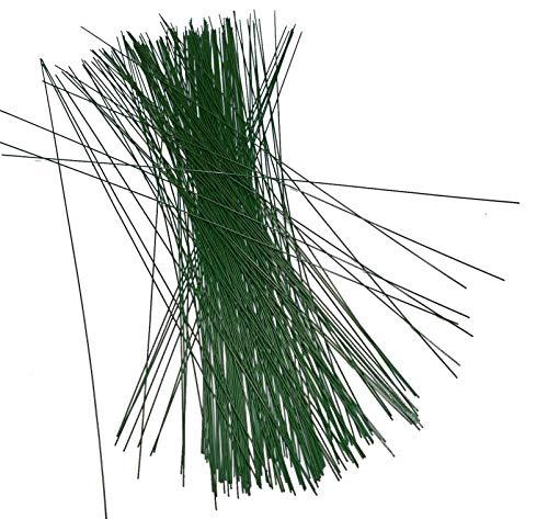 Inter Flower -100 Stück Steckdraht, Basteldraht, grün, 0,8 mm x 300 mm, Blumendraht