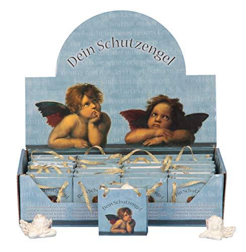 Unbekannt 24 Engel im Display Schutzengel Raphael Motiv Blau Figuren Engelfiguren