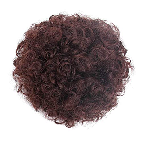 Prime Amazon Day,COUNTSTAR Mode jolie femme fille porte-queue de cheval postiche afro bouffée perruque cheveux anneau bun