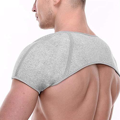 3°Amy Shoulder Supports Double Shoulder Support Brace Compression Shoulder Belt for Dislocation Arthritis Pain Shoulder Wrap Protector #a (Color : Light Grey, Size : L)