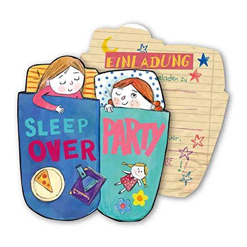 DH-Konzept Einladungskarten Übernachtungsparty 6er Pack