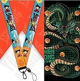 Lanyard Goku Dragon Ball Z cordón para el cuello tarjeta identificativa, para llaves, para móvil, para mascarilla, para teléfono.…