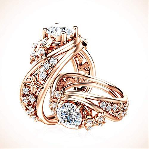 IWINO 14 karaat roségouden saffier Elegante ring voor vrouwen Edelsteen sieraden Ringen Jade Bizuterias