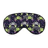 Gamepad Gamer Controller Joystic Sleep Mask Night Cover Eye Mask Adjustable Strap Sleep Blindfold Eyeshades for Women Men