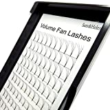 Individual Cluster Lashes Rootless Wide Fans Premade Russian Volume 4D Pre Fanned Eyelash Extensions 0.07mm C curl, 9mm | 10mm | 11mm | 12mm | 13mm | 14mm(13mm)