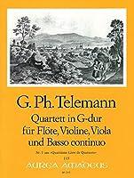 TELEMANN - Cuarteto en Sol Mayor (TWV:43/g5) (Partitura/Partes)
