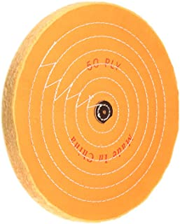 uxcell 12-Inch Cotton Buffing Wheel Polishing for Bench Grinder Tool 4mm Arbor Hole