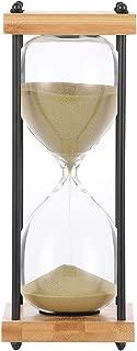 Siyaglass Hourglass 30 Minutes Sand Timer Wooden Frame Sandglass Timer (gold)