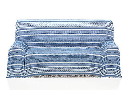 Cardenal Textil Azteca Foulard Multiusos, Azul, 230x290 cm