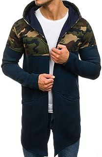 Idopy Il cappotto del cappotto del Poncho del mantello del cotone dellannata degli uomini