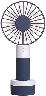 SHANGRUIYUAN-Mini Fan Multifunction Portable Mini Fan USB Electric Fan Home Office Fans Ventilator Summer Night Light Fan (Color : Blue)