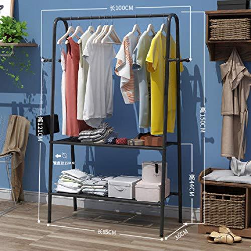 TAYIBO Perchero de Ropa Moderna Minimalista,Perchero de pie, Perchero de Acero extraíble Floor Hanger E