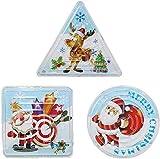 kungfu Mall 15pcs Christmas Maze Puzzle Babbo Natale Albero di Natale Labirinto Mini Puzzle Triangolo Cerchio Quadrato