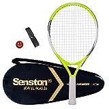 Senston Kinder/Jugend Tennisschläger One-Piece-Design Tennis Schläger Set mit Tennistasche,Overgrip,Vibrationsdämpfer
