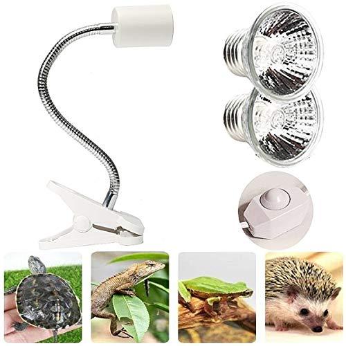 liuer Lámpara para Tortuga, Lámpara de Calor UVA UVB de