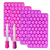 BluVast Molde de silicona con forma de corazón, pequeño, juego de 4...