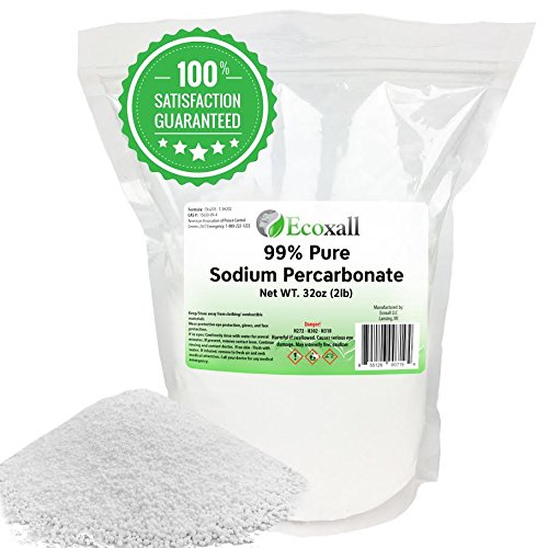 99.9% Sodium Percarbonate - Anhydrous 2 Pounds (Solid Hydrogen Peroxide - Oxygen Bleach) - Ecoxall Chemicals