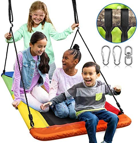 Odoland 60inch Giant Platform Tree Swing for Kids and Adult Waterproof Fabric Large Flying Outdoor product image
