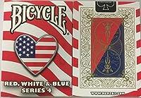 自転車赤白と青のシリーズ4ハートのデザインプレイカード Bicycle Red White and Blue Series 4 Heart Design Playing Cards