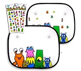 Scribbies Car Window Sun Shade with Stickers