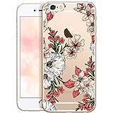 OOH!COLOR Collection 2020 Carcasa para Móvil Compatible con iPhone 6, Funda iPhone 6S Transparente Fina Silicona Suave Bumper Teléfono Caso para iPhone 6, 6S con Dibujo Flores Pastel (DESECHABLE)