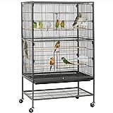 YJYDD Vogelvoliere Papageienkäfig Vogelkäfig Zimmer Voliere Vogelhaus 132cm Tierkäfig