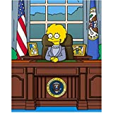 Lisa Simpson 8 inch x 10 inch Photograph The Simpsons (1989 -) as U.S. President kn
