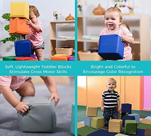 Baby Toddler Kids Soft Block Play Set 12pcs – Large