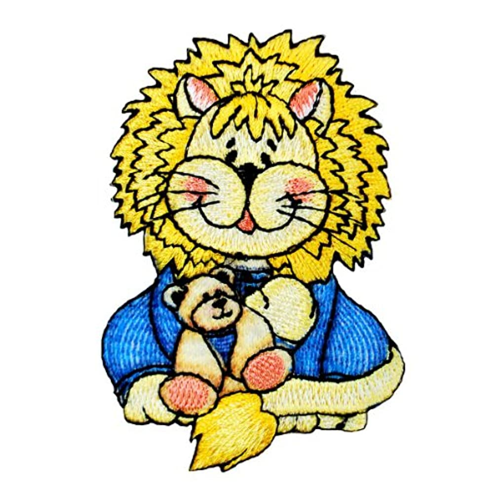 Expo BZP77509 Iron-on Embroidered Applique Bazooples, Lester Lion in Pajamas