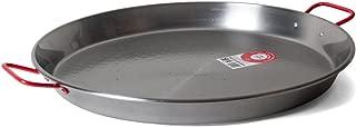 Garcima C-20RED 20-Inch Carbon Steel Paella Pan, 50 cm, Large, Silver