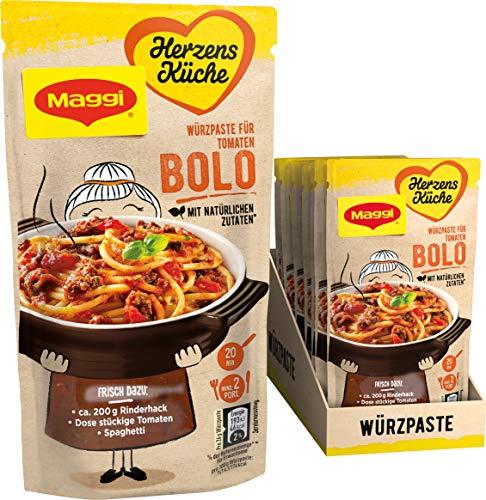 Maggi Herzensküche Tomaten Bolo, Würzpaste für Bolognese-Gerichte, Vegan, 10er Pack (10 x 65 g)