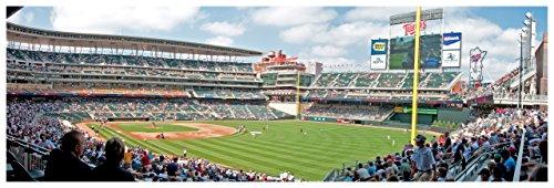 ArtsyCanvas Target Field - Baseball Field - 36x12 Matte Poster Print Wall Art