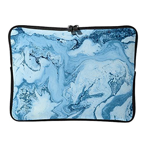 Bolsa de portátil con textura de mármol regular, ligera, multicolor, estilo moderno, ideal para viajes de negocios, White (Blanco) - Mobiliarbusshi-dnb
