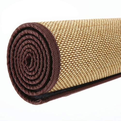 Decoración hogareña Alfombra de ratán de Fibra Natural, Alfombra de bambú de Verano, tapete del Piso de la Sala de Estar/Dormitorio, Antideslizante/Transpirable (primario)