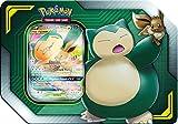 Pokemon Tag Team Tin Snorlax-GX & Eevee- TCG: Sun & Moon Box- 4 Booster Packs | 1 Special Eevee & Snorlax-GX Foil Card | Genuine Cards