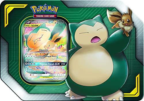 Pokemon Tag Team Tin Snorlax-GX & Eevee- TCG: Sun &