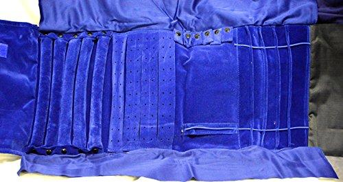 Organizador joyas Roll Organizador anillos, collares, pulseras, pendientes azul