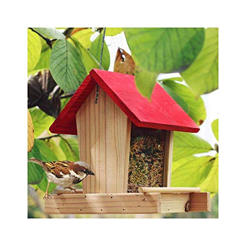 LFDHSF Vogelfutterhäuschen für hängende Vogelfutterbehälter im Freien Regenfester Balkon Villa Vogelfutterbox Haustyp Vogelhäuschen Gartendekoration