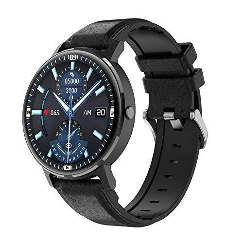 ZYY LG16 Bluetooth Call Music SmartWatch Music Play Detección de Ritmo cardíaco IP67 Reloj Impermeable para Android iOS Reloj Deportivo,D
