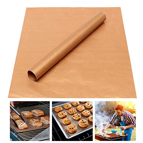 Grill and Baking Mat Set of 10, Copper Colored, 100% Non Stick, Easy Cleanup, 13 in x 15.75 in
