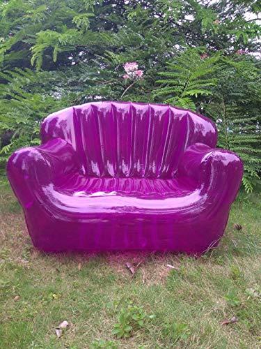 IHCIAIX Stuhl,Wohnzimmer Zweisitzer-Luftsofa Aufblasbare Liege Faltbare Royal Möbel Langlebige Couch/Stuhl für den Innen- und Außenbereich, tiefviolett