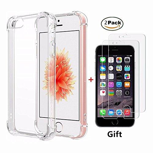 Funda iPhone SE,Funda iPhone 5 5S Fanxwu Case Ultrafina Transparente Cristal Suave...