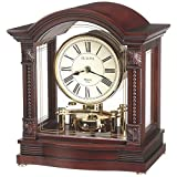 Bulova B1987 Bardwell Clock, Antique Walnut