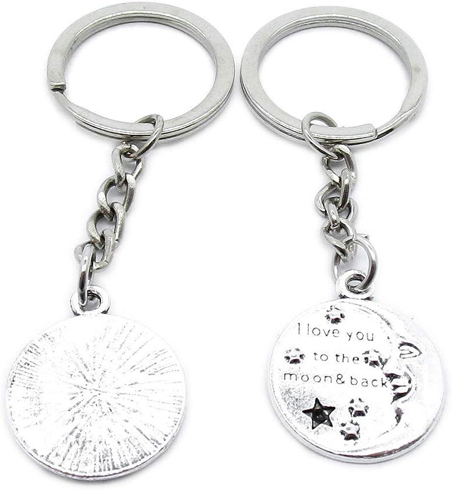 Metal Regular store Antique Silver Color Free shipping on posting reviews Keychains Love Keyrings Moon YR0A3 Ke