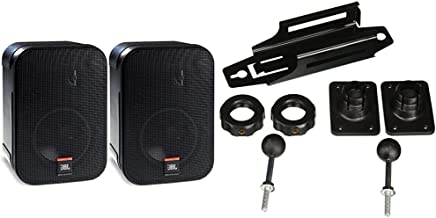 JBL Professional C1PRO High Performance 2-Way Professional Compact Loudspeaker System, Black, Sold as Pair & MTC-2P Wall M...