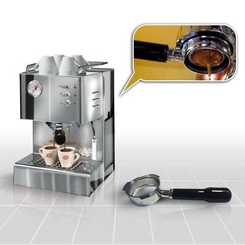 Espressomaschine Quick Mill Cassiopea 03004 Special mit Bodenloser Siebträger und Standard Siebträger