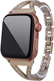 Sinma Luxury Metal Band Compatible Replacement Bracelet for Apple Watch 4/3/2/1 42mm/44mm
