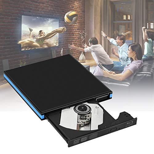 PaNt Unità DVD Blu Ray 3D Esterna,USB 3.0 Lettore Masterizzatore CD Esterno Portatile Ultra Sottile BD DVD CD Supporto Windows XP/7/8/10 VISATA MAC OS per Laptop/Desktop/Macbook/PC